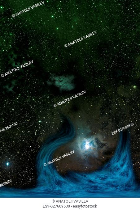 Star field in space a nebulae and a gas congestion. Elements of this image furnished by NASA