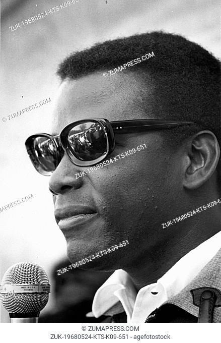 May 24, 1968; Washington DC, WA, USA; Actor SIDNEY POITIER at Resurrection City in Washington D.C. (Credit Image: © KEYSTONE Pictures USA/ZUMAPRESS