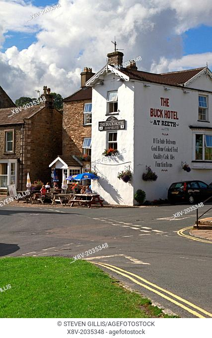 The Buck Hotel, Reeth, Yorkshire Dales, England, UK
