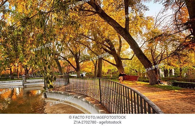 The Buen Retiro Park. Madrid. Spain