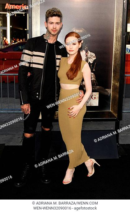 Annabelle: Creation Los Angeles Premiere held at the TCL Chinese Theatre. Featuring: Travis Mills, Madelaine Petsch Where: Los Angeles, California