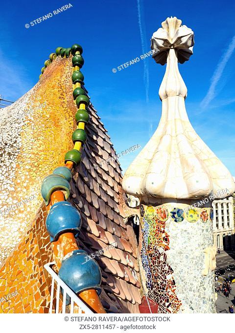 Casa Batlló by Antonio Gaudí, 1904-1906 - Barcelona, Catalonia, Spain