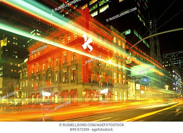 Christmas, Cartier, Fifth Avenue, Manhattan, New York, USA