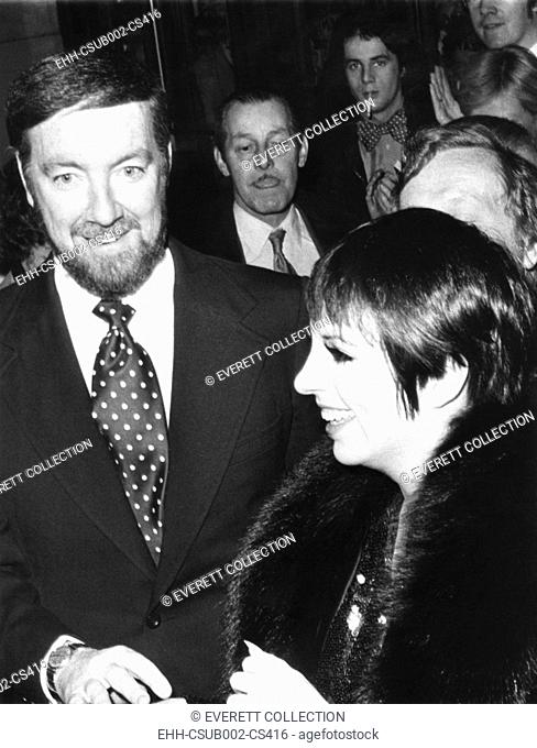 Actress Liza Minelli and her husband Jack Haley Jr. at London Premiere of THAT'S ENTERTAINMENT! At the Dominion Theatre, Oct. 2, 1974