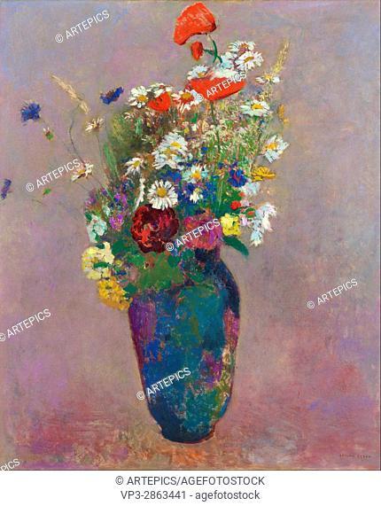 Odilon Redon - Vision- vase of flowers - Van Gogh Museum, Amsterdam