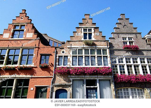 Houses. Ghent. Flanders, Belgium