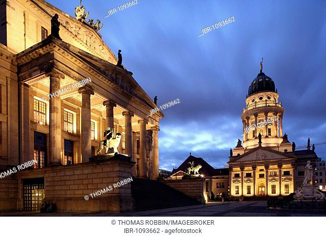 Gendarmemarkt square, Berlin Concert Hall, former Schauspielhaus, French Cathedral, Mitte, Berlin, Germany, Europe