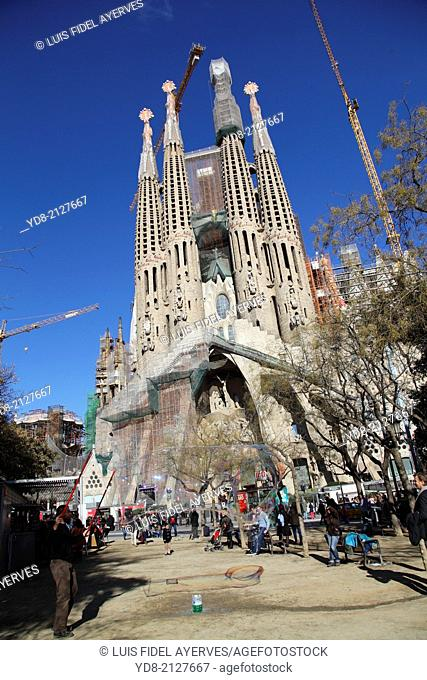 Sagrada Familia, Barcelona, Catalonia, Spain
