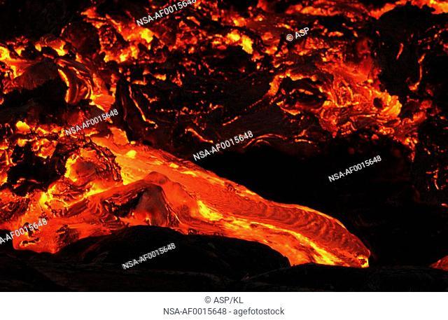 Lava flow - Volcano National Park - Hawaii