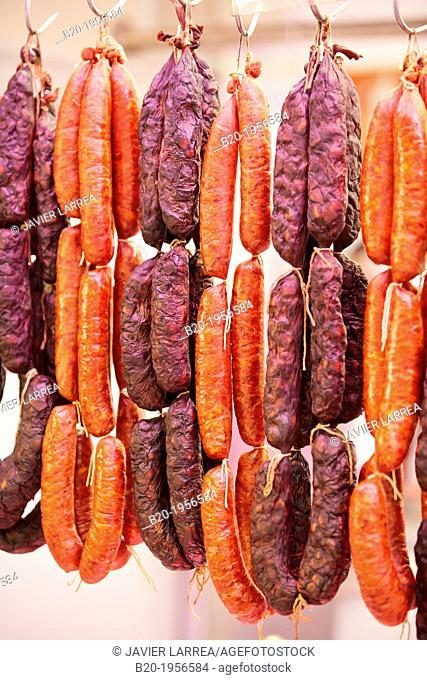 Sausage. South Market, Gijón, Asturias, Spain