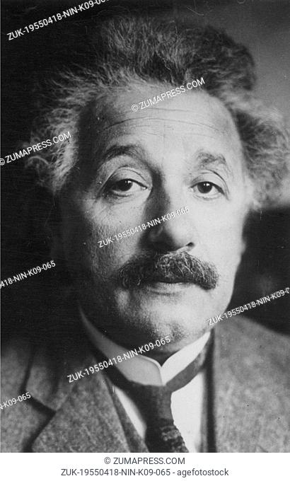 April 18, 1955 - Berlin, Germany - Jewish, German-born theoretical physicist ALBERT EINSTEIN who's widely regarded as the most important scientist of the 20th...