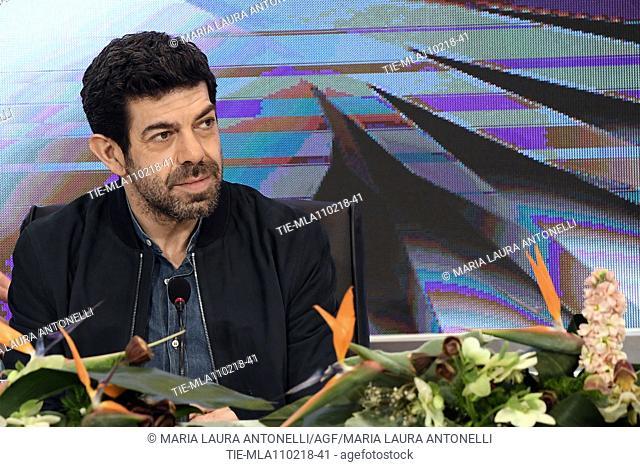 Pierfrancesco Favino during the closing press conference of 68th Sanremo Music Festival, Sanremo, ITALY-11-02-2018