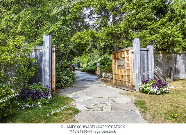 Thuya Garden in Northeast Harbor on Mount Desert Island in Maine, United States