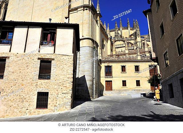 Historical Downtown. Segovia, Spain