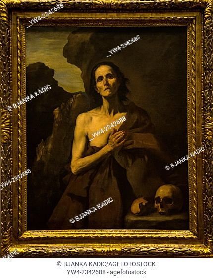 Ribera painting 'Mary Magdalene of Egypt', Fabre Museum, Montpellier, France