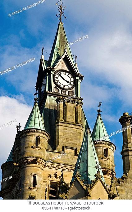 DUNFERMLINE FIFE Dunfermline Town hall clock tower