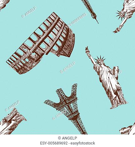 Seamless landmark pattern