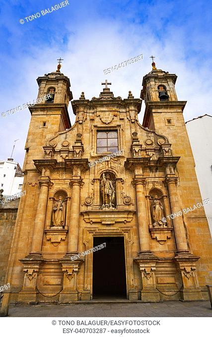 La Coruna Saint Jorge church in Galicia of Spain