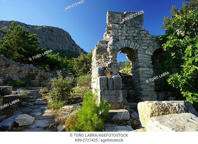 Priene. Ancient Greece. Asia Minor. Turkey