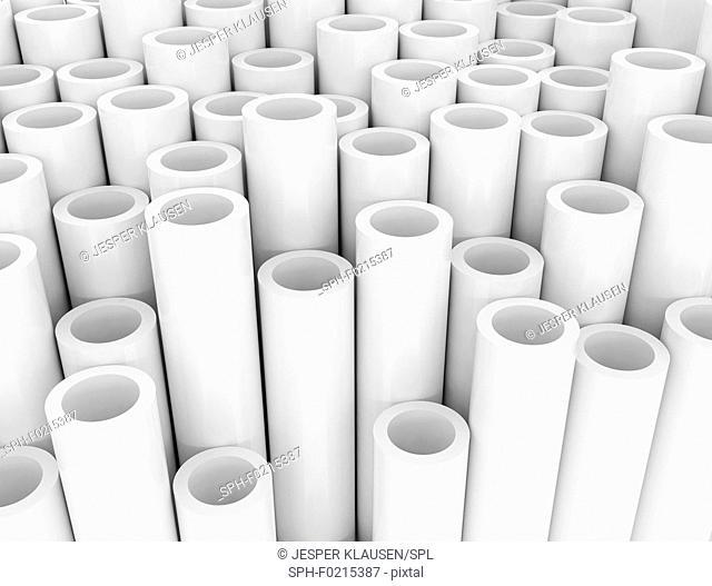 White tubes, illustration
