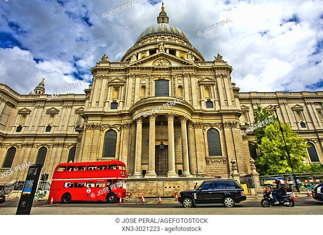Saint Paul's Cathedral, Cathedral Church of St Paul the Apostle, Style English Baroque, London, England, UK, United Kingdom, Europe