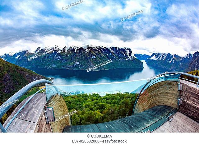 Stegastein Lookout Beautiful Nature Norway