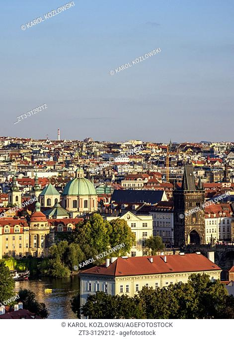 Stare Mesto, Old Town, elevated view, Prague, Bohemia Region, Czech Republic
