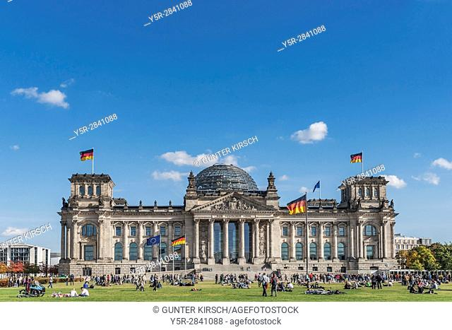 The building of the Reichstag was built between 1884 and 1894 by Paul Wallott. The Reichstag is located in the capital of the Federal Republic of Germany