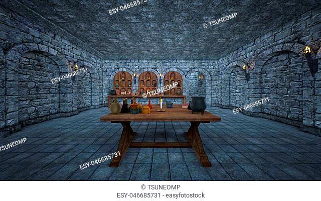 3D CG rendering of the cellar