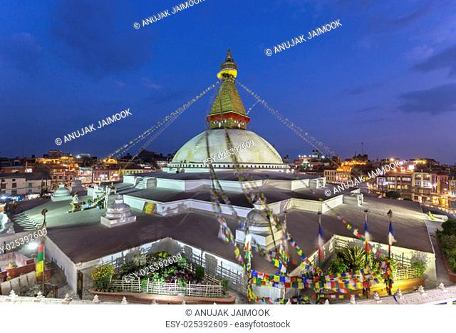 Boudhanath Stupa located in Kathmandu, Nepal. It aslo the world heritage site of UNESCO..This photo was shot 2 weeks before huge earthquake