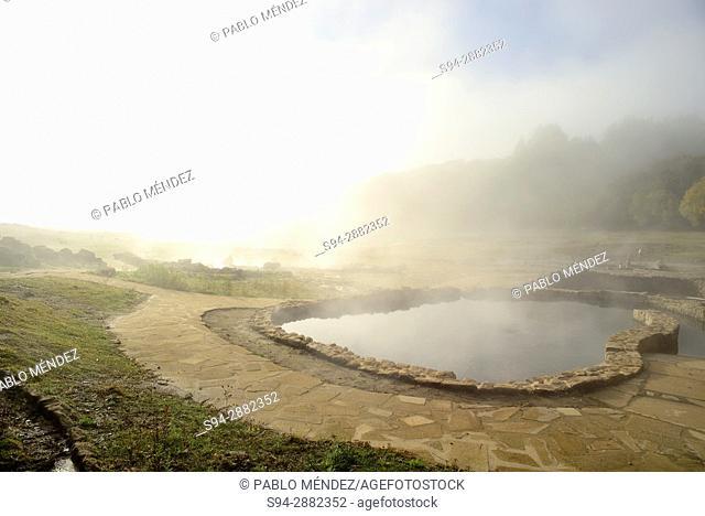 Baths or thermal springs of O Baño, Bande, Orense, Spain