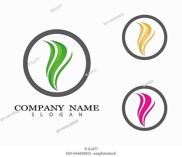 Hair logo template vector icon illustration design