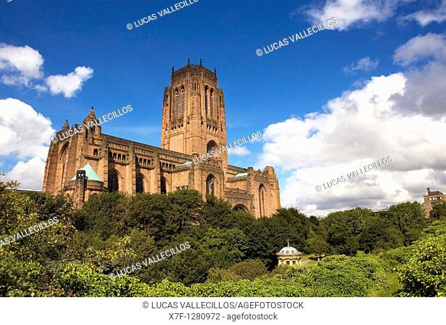 Anglican cathedral Liverpool  England  UK
