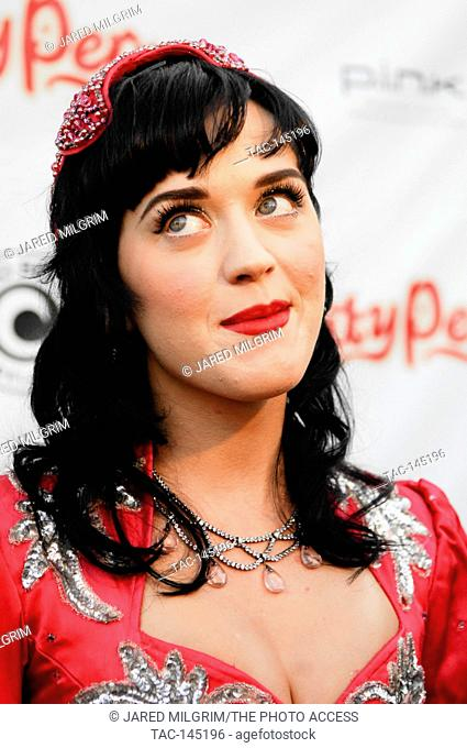"""Singer Katy Perry posing at her CD release party for """"""""One Of The Boys"""""""" at Capitol Records on June 17, 2008 in Hollywood"""