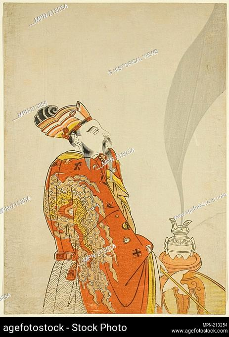 Incense That Revives the Image of the Dead - Emperor Wu of the Han Dynasty - 1765 - Attributed to Komatsuya Hyakki Japanese