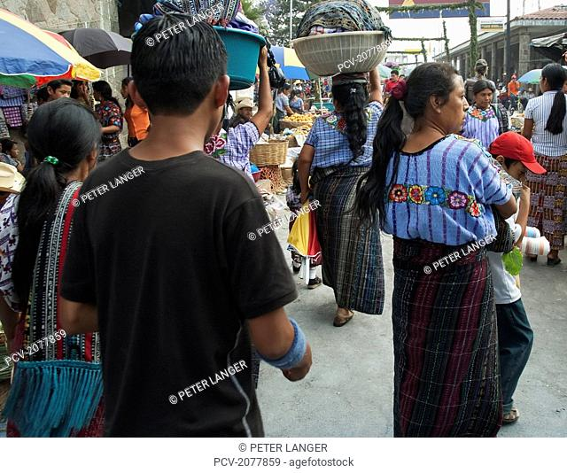 Market Scene, Santiago De Atitl
