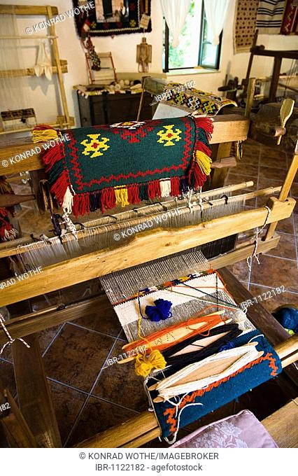 Loom, Ethno-Museum, Krka National Park, Dalmatia, Croatia, Europe