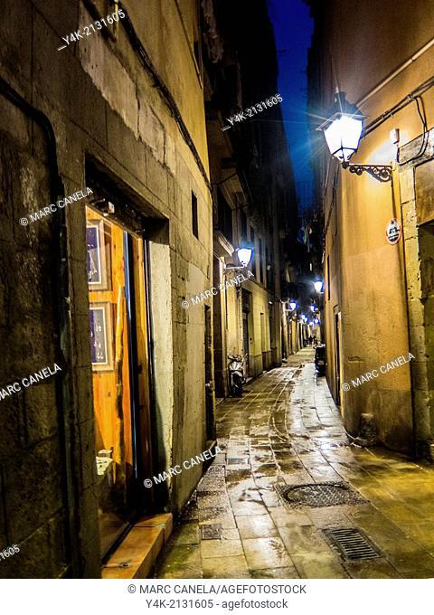Europe, Spain, Barcelona, street, carrer blanqueria