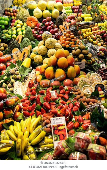 San Jose Market, La Boqueria, Barcelona, Catalonia, Spain, Western Europe