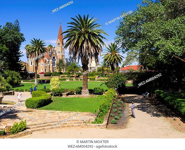Namibia, Windhoek, Evangelical Lutheran Church, Christ Church, Parliament Garden