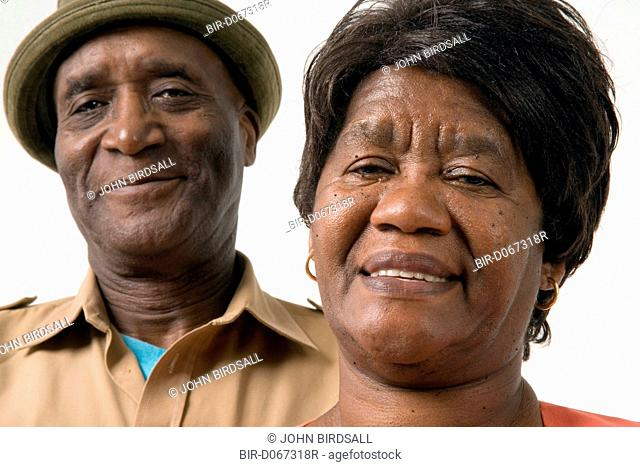 Portrait of an older couple smiling