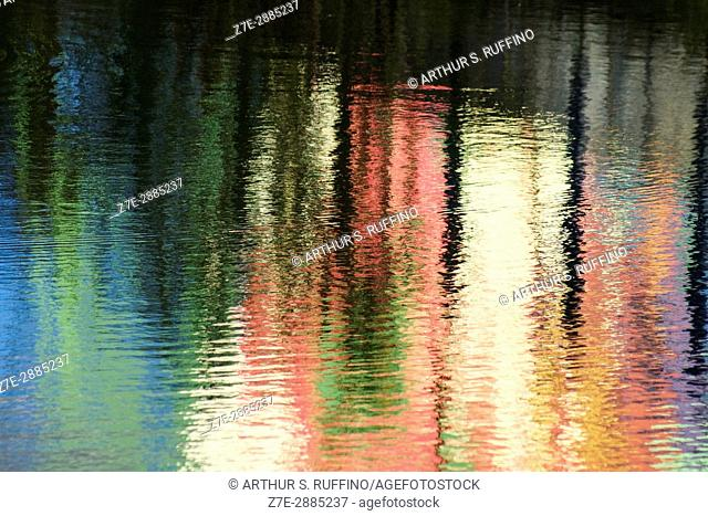 Water canvas for the impressionist painter. Reflected pastels