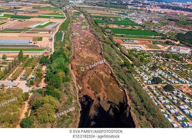 The river of Tordera. Maresme. Barcelona