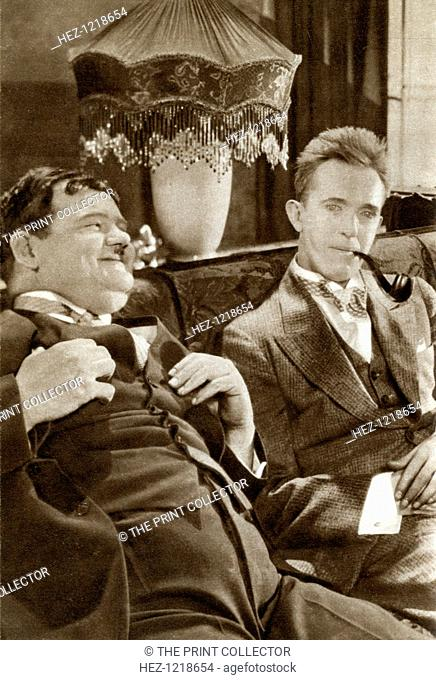 Stan Laurel and Oliver Hardy, American-based comedy duo, 1933. Stan Laurel (1890-1965) and Oliver Hardy (1892-1957) became famous during the early half of the...