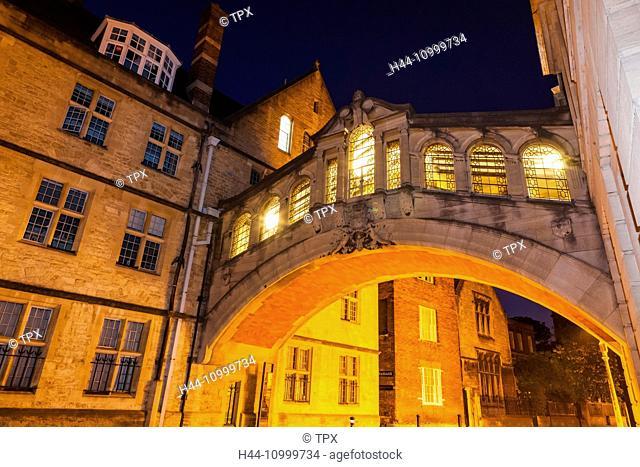 England, Oxfordshire, Oxford, Hertford College, Bridge of Sighs