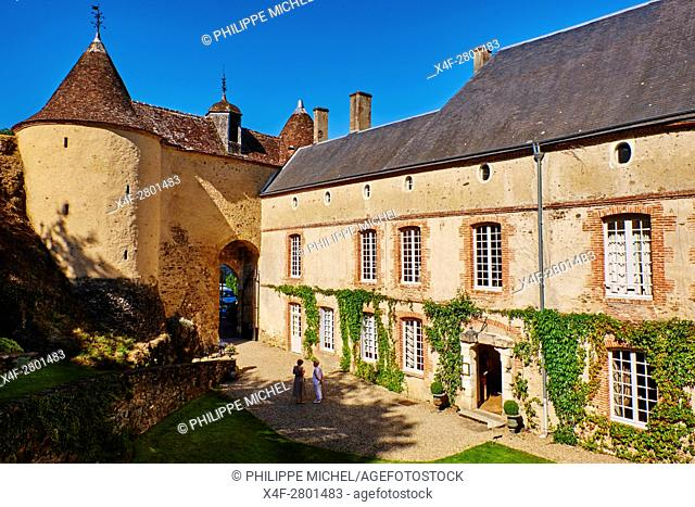 France, Indre (36), Creuse valley, Gargilesse-Dampierre, The most beautiful villages of France, the castle