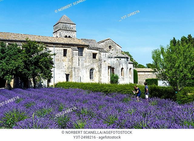 Europe. France. Bouches-du Rhone. Saint-Remy-de-Provence. Monastery of Saint-Paul-de-Maussole