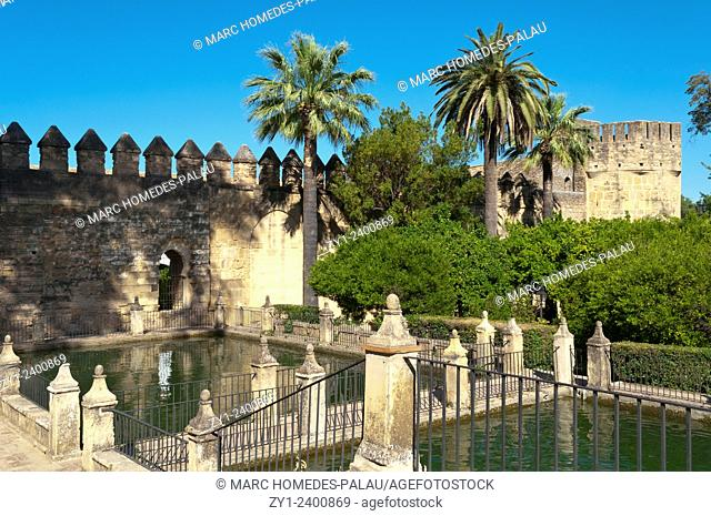 Gardens of the Alcazar of the Christian Kings, Cordoba. Andalusia, Spain