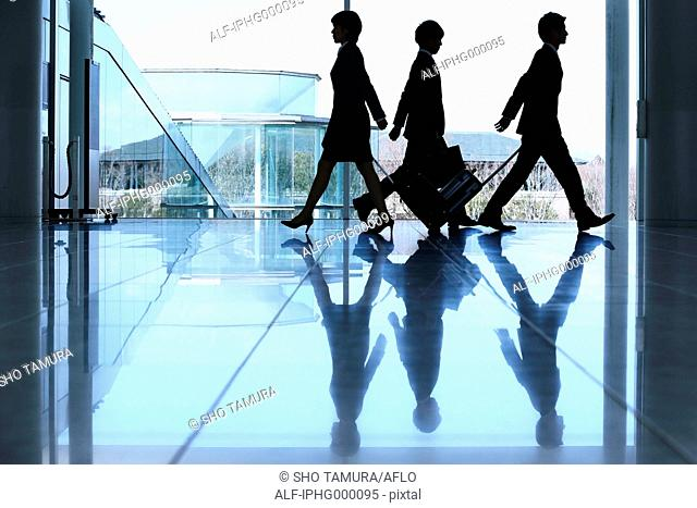 Business people at the airport