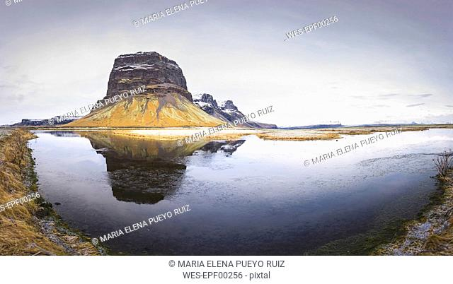 Iceland, view to Lomagnupur